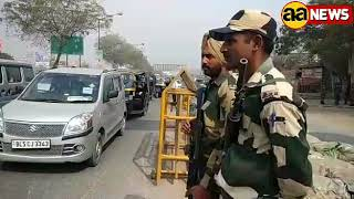 Delhi Singhu Border par alert. Kisan March ko lekar