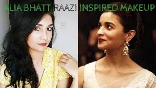 Alia Bhatt RAAZI Inspired Easy & Affordable Makeup Look | Soft Wedding Guest Makeup | Nidhi Katiyar