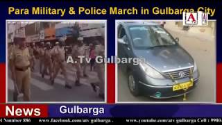 Para Military & Police March in Gulbarga City A.Tv News 16-4-2018