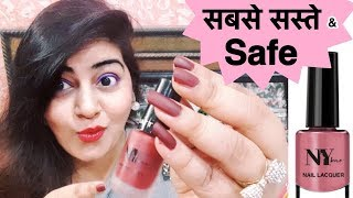 Cheapest Nail Paints | Good quality | NY Bae Nail Polish | Review & Swatches | JSuper Kaur