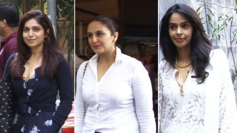 Bhumi Pednekar, Mallika Sherawat, Huma Qureshi, & Dir Aniruddha Roy Chowdhury Spotted At Indigo Restaurant