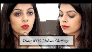 Under Rs.1000 Makeup challenge | Affordable Beauty | Affordable Makeup Look