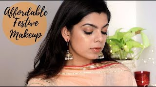 AFFORDABLE Festive Makeup | Quick and Easy | Beginner Friendly