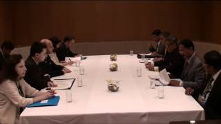 EAM meets Foreign Minister of France Mr. Laurent Fabius in Tokyo ( July 8, 2012)