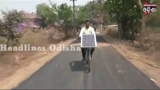 Man Invented Soclar Cycle In Boudh