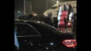 External Affairs Minister arrives in Vientiane, Lao PDR to attend the 9th ASEM Summit