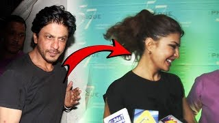Jacqueline Fernandez Walks Away When Asked About Working With Shah Rukh Khan