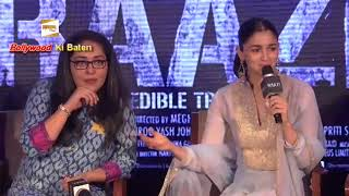 'Ae Watan' song launch- Alia Bhatt, Meghna Gulzar and Vicky Kaushal launch 'Raazi'