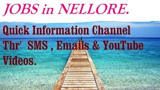 JOBS in NELLORE  for Freshers & graduates. Industries, companies.