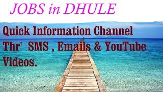 JOBS in DHULE      for Freshers & graduates. Industries, companies.