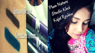 Plum Nature Studio Khol Kajal Review-Swatches-Application New Shades | Best Kajal | Nidhi Katiyar