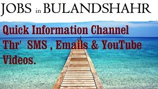 JOBS in BULANDSHAHR     for Freshers & graduates. Industries, companies.