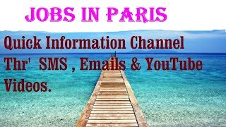 Jobs in PARIS  City for freshers & graduates. industries, companies. FRANCE.