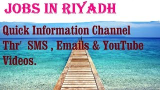 Jobs in RIYADH  City for freshers & graduates. industries, companies.SAUDI ARABIA