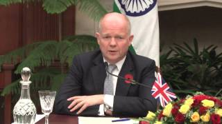 Joint Press Interaction-EAM and UK Secretary of State for Foreign and C'wealth Affairs