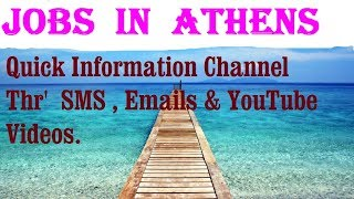 Jobs  in  ATHENS   City for freshers & graduates. industries, companies. GREECE