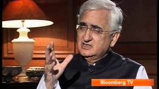 External Affairs Minister, Shri Salman Khurshid's interview with Bloomberg TV - Part 1