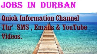 Jobs  in  DURBAN    City for freshers & graduates. industries, companies.   SOUTH  AFRICA