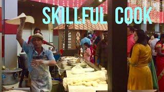 Amazing skillful street cook - making romali roti