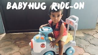 Baby got a new car -  unboxing babyhug ride - on