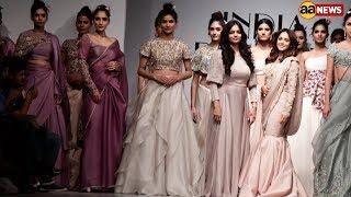 Bollywood actress Nushrat Bharucha Graced the Ramp for Designer Kavita Aggarwal