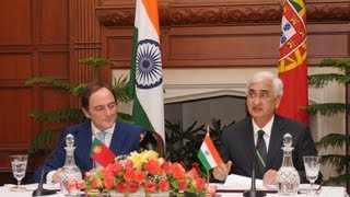 Joint Media Interaction- External Affairs Minister and  Foreign Minister of Portugal (March 4, 2013)
