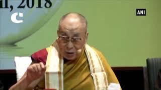 Spiritual leader of Tibet, 14th Dalai Lama while speaking at Special Lecture