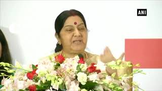Sushma Swaraj attends 'Contribution of Hindi in the Friendship of India and China' event
