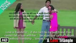 Kuch kuch hota hai    Hindi movie dialogue with English subtitles   music and songs