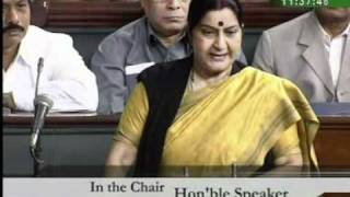 Part 3: Mehngai: Smt. Sushma Swaraj: 25.02.2010