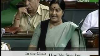 Mehngai: Smt. Sushma Swaraj: 04.08.2010