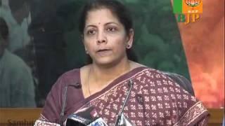 Gujarat Panchayat & Municipal Election : Smt. Nirmala Sitharaman : 23.10.2010