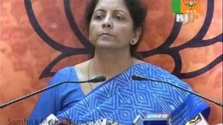 Part 2: Dilip Padgaonkar's Statement: Smt. Nirmala Sitharaman: 24.10.2010