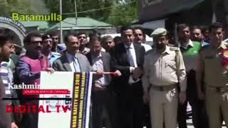 Traffic Safety Week Observed In Baramulla,Dc Baramulla Flags off the rally.