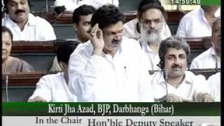 Part 7: Delay in CWG:  Sh. Kirti Jha Azad: 09.08.2010