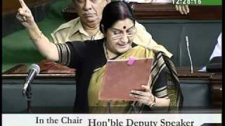 Part 3: Bhopal Gas Tragedy: Smt. Sushma Swaraj: 11.08.2010