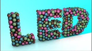 Distribute Cloner Balls in Text - Cinema 4D Tutorial