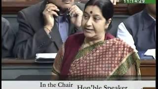 Mehngai: Smt Sushma Swaraj: 23.02.2010