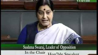 IPL & JPC Demand: Smt. Sushma Swaraj: 23.04.2010