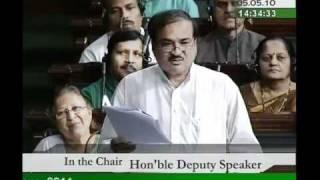 Part 2: Specific Parameters for Conducting the Census, 2011: Sh. Ananth Kumar: 05.05.2010