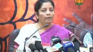 Sonia Gandhi's Speech: Smt.  Nirmala Sitharaman: 19.12.2010