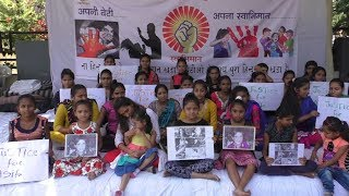 Surat based organization protest for women and children safety