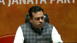 Press Conference by Dr. Sambit Patra at BJP Central Office, New Delhi : 23.04.2018