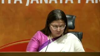 Press Conference  by Smt. Meenakshi Lekhi at BJP Central Office, New Delhi