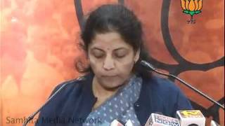 Corruption in Army & Rahul Gandhi's statement on Price Rise: Smt. Nirmala Sitharaman: 12.01.2011