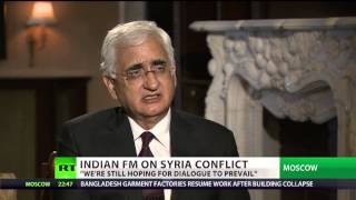 External Affairs Minister's interview to RT TV (Russia) during his visit to Russia