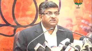 Part 1: CVC  P. J. Thomas & Black Money Issues: Sh.  Ravi Shankar Prasad: 27.01.2011