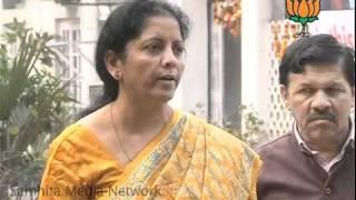 Misbehaviour with Indian Students in US & Karmapa: Smt. Nirmala Sitharaman: 30.01.2011