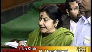 Intervention on Telangana: Smt.  Sushma Swaraj: 23.02.2011