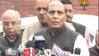 Against procedure changed by U.P govt. for Loktantra: Sh. Raj Nath Singh: 01.03.2011